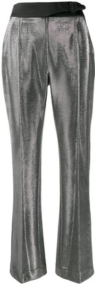 Ermanno Scervino high-waisted metallic trousers