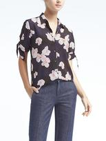 Banana Republic Easy Care Dillon-Fit Bow-Sleeve Shirt