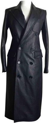 Faith Connexion Black Leather Coat for Women