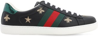 Gucci 50mm Ace Embroidered Leather Sneakers