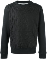 Maison Margiela silk quilted panel sweatshirt - men - Silk/Cotton/Polypropylene - 48