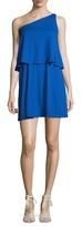 Susana Monaco Allie Layered One Shoulder Mini Dress