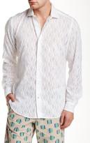 Ganesh Long Sleeve Sheer Pattern Slim Fit Shirt