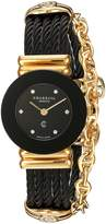 Charriol Women's 'St Tropez' Swiss Quartz Gold-Tone and Stainless Steel Dress Watch, Color: (Model: 028BNGP.545.RO005)