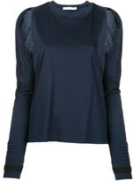 Dion Lee cutout shoulder T-shirt - women - Cotton - 6