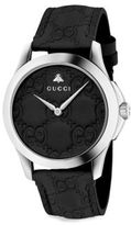 Gucci G-Timeless Leather Strap Watch