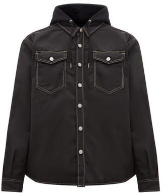Eytys Alpha Cali Hooded Twill Overshirt - Mens - Black