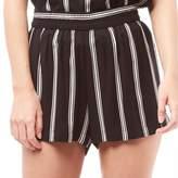 Jacqueline De Yong Womens Epic Stripe Shorts Whisper White