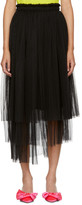 MSGM Black Tulle Skirt