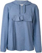 Peter Jensen front pocket hoodie - women - Cotton/Polyamide - L