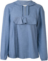 Peter Jensen front pocket hoodie - women - Cotton/Polyamide - S