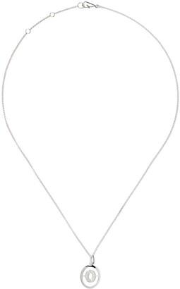 Annoushka 18kt white gold diamond initial O necklace