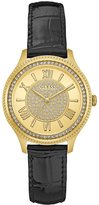 GUESS Black and Gold-Tone Sparkle Watch