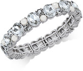 Charter Club Silver-Tone Crystal and Imitation Pearl Stretch Bracelet, Only at Macy's