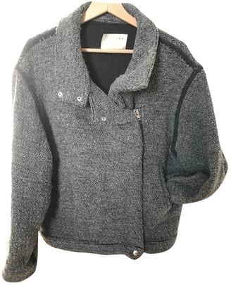 IRO Grey Wool Leather jackets