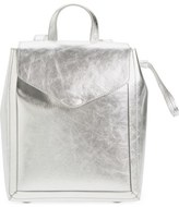 Loeffler Randall Mini Metallic Leather Backpack