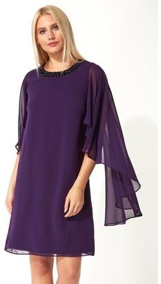 M&Co Roman Originals embellished trim chiffon dress