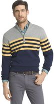 Izod Men's Classic-Fit 12gg Striped Quarter-Zip Pullover Sweater