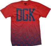 DGK Men's Checkers T Shirt Red XL