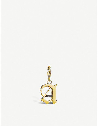 Thomas Sabo Vintage 'A' letter 18ct yellow gold-plated charm
