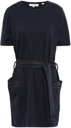 Chinti and Parker Belted Cotton-jersey Mini Dress