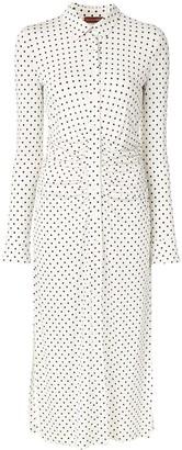 Altuzarra Polka-Dot Print Draped Detailed Dress