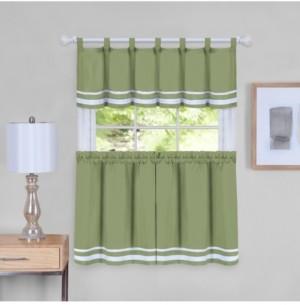Dakota Window Curtain Tier Pair and Valance Set, 58x36