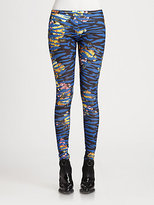 McQ by Alexander McQueen Tiger-Print Leggings