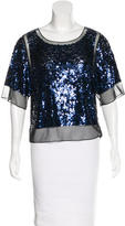 By Malene Birger Embellished Short Sleeve Top w/ Tags