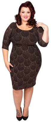 M&Co Scarlett and Jo plus art deco lurex dress