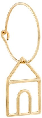ALIITA 9kt yellow gold Casita Pura earring