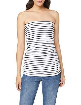 Dorothy Perkins Women's Ivory/Navy Stripe Bandeau Vest Top, Blue 200, (Size:)