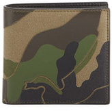 Valentino Camo Canvas & Leather Wallet
