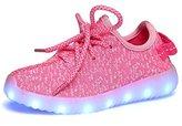 Fuiigo Unisex LED Luminous Adults Shoes USB Charging Colorful Glowing Sports Sneakers 40