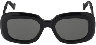 RetroSuperFuture Virgo Black Acetate Sunglasses
