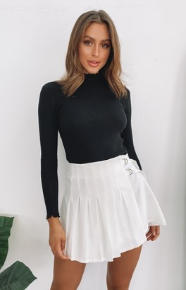 Bb Exclusive Libby Pleated Skirt White