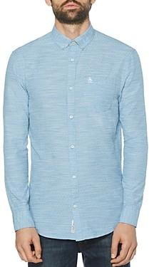 Original Penguin Cotton Slub Dot Slim Fit Button-Down Shirt