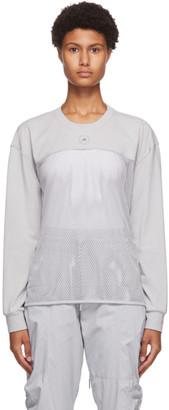 adidas by Stella McCartney Grey Mesh Long Sleeve T-Shirt