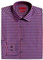 HUGO Gingham Shadow Check Regular Fit Dress Shirt
