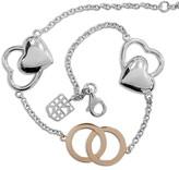 Frederique Constant Sterling Silver and 18K Rose Gold Bracelet