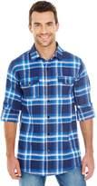 Burnside Mens Plaid Flannel Shirt