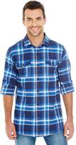 Burnside Yarn-Dyed Long Sleeve Flannel Shirt.B8210