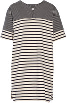 MiH Jeans Bretonic striped cotton-jersey mini dress