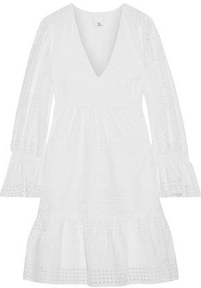 Iris & Ink Saguaro Fluted Broderie Anglaise Cotton Mini Dress