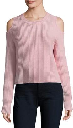 Zoe Jordan Galen Cold-Shoulder Crop Sweater