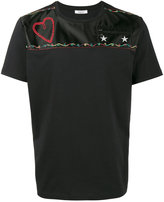 Valentino t-shirt with a heart to the chest - men - Cotton/Polyester/Cupro - S