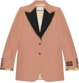 Gucci Cotton Viscose Faille Jacket With Label