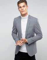 Asos Skinny Smart Blazer in Salt And Pepper