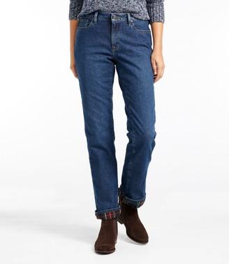 L.L. Bean Women's 1912 Jeans, Favorite Fit Straight-Leg Lined