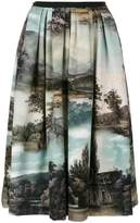 Antonio Marras Landscape pleated midi skirt